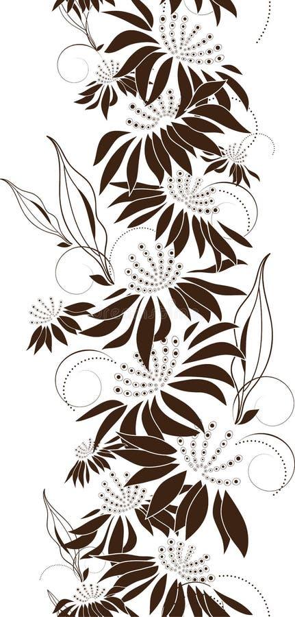 Безшовный флористический дизайн иллюстрация вектора