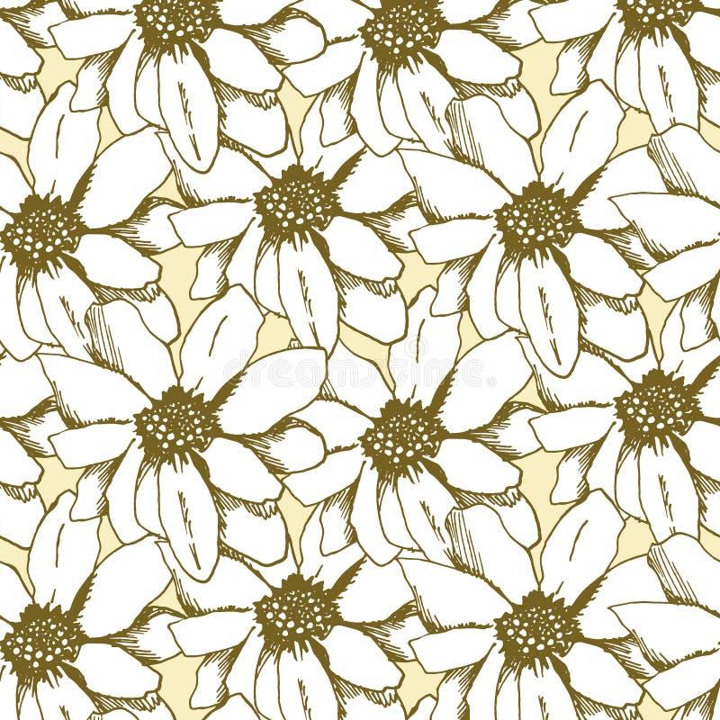 Безшовный цветок картины в винтажном стиле стоковое фото