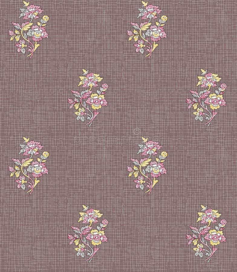 Безшовный цветок mughl с предпосылкой текстуры иллюстрация штока