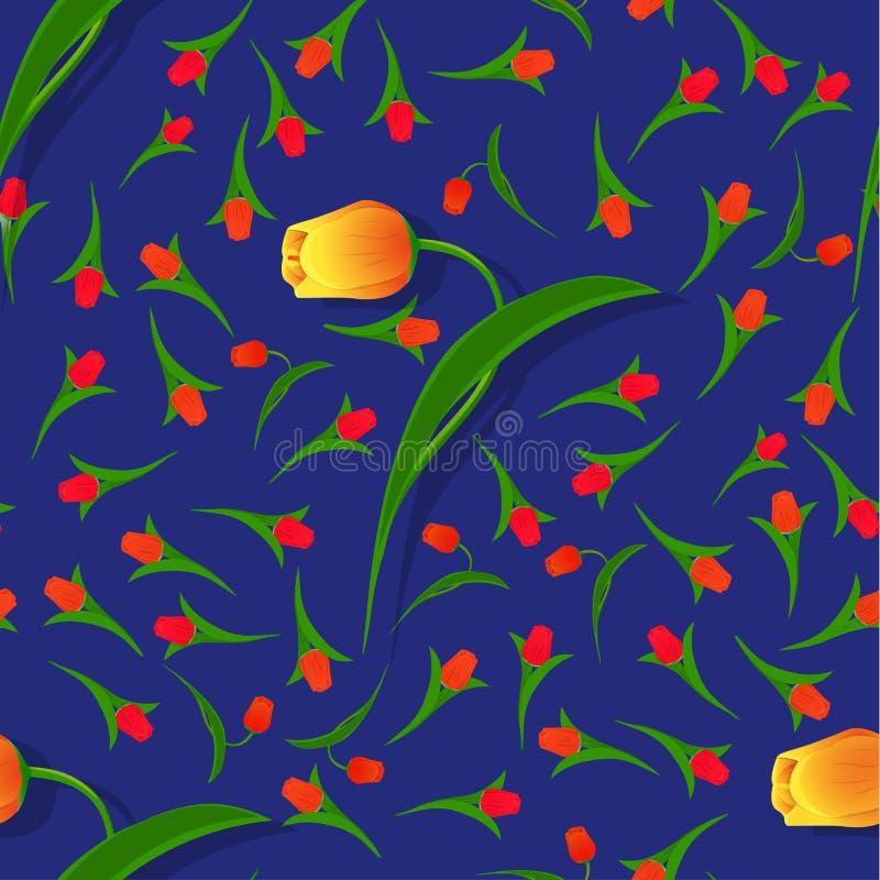Безшовный цветок pattern-02 бесплатная иллюстрация