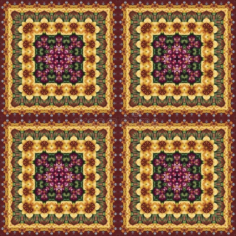 Безшовный цветочный узор, картина маслом стоковые изображения rf