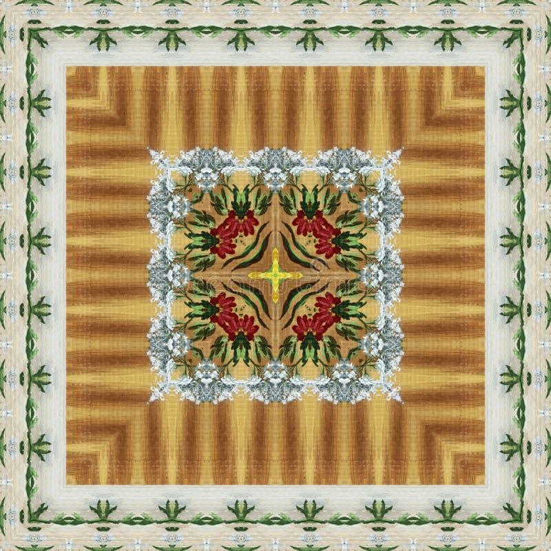 Безшовный цветочный узор, картина маслом бесплатная иллюстрация