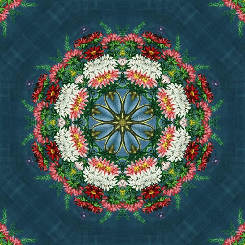 Безшовный цветочный узор, картина маслом иллюстрация штока