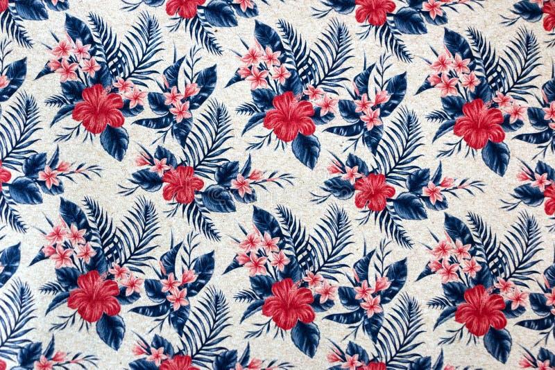 Безшовный цветочный узор на обоях стоковая фотография
