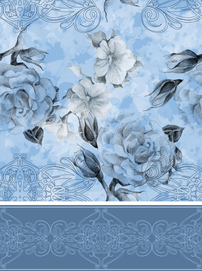 Безшовный цветочный узор иллюстрация штока