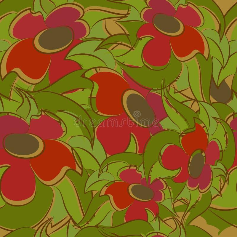 Безшовный цветочный узор иллюстрация вектора