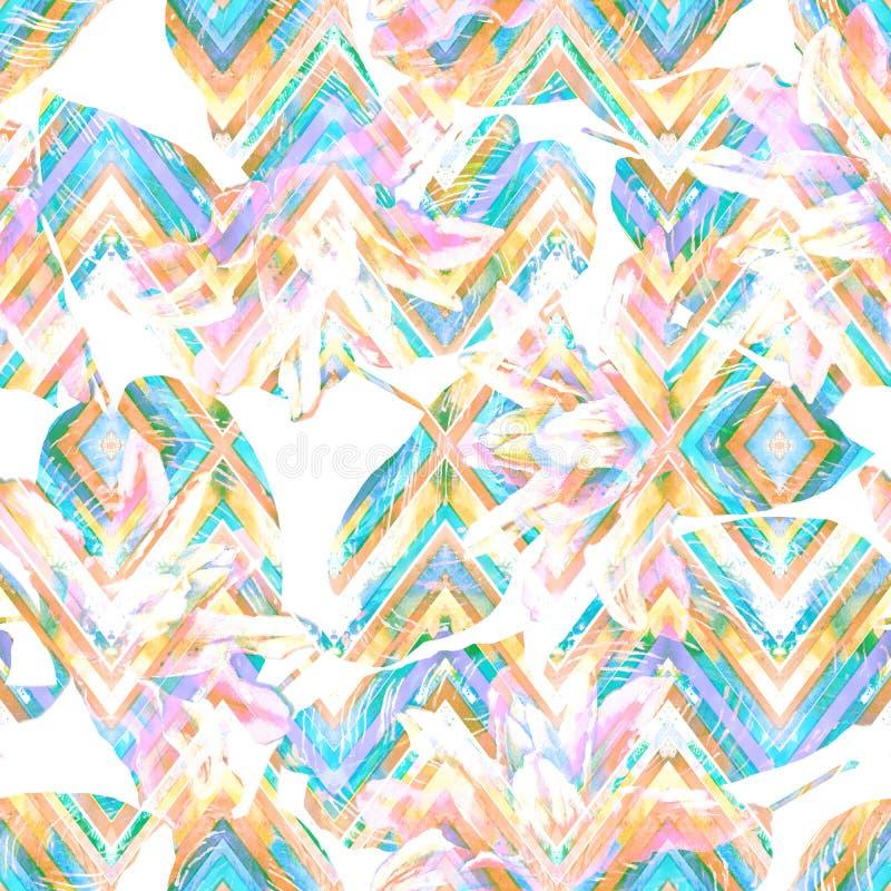 Безшовный handmade цветочный узор бесплатная иллюстрация