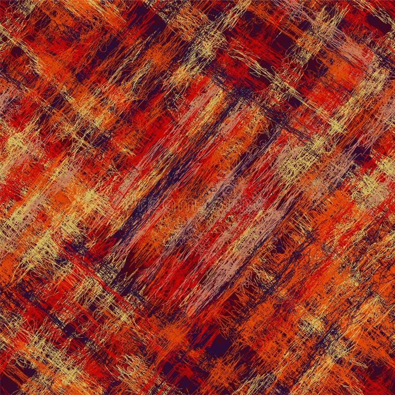 Безшовным раскосным картина striped grunge checkered красочная иллюстрация вектора