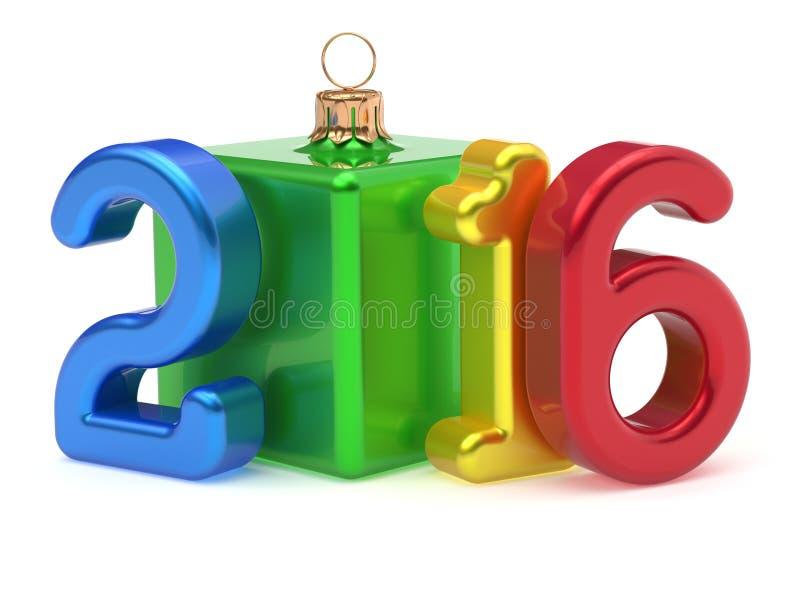 Безделушка 2016 Xmas шутки куба шарика рождества Нового Года веселая бесплатная иллюстрация