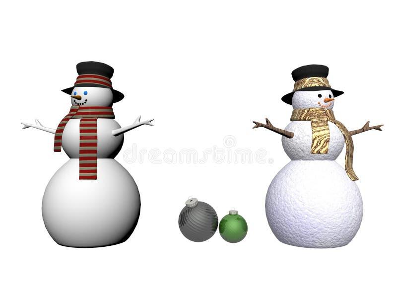 Безделушки снеговика и рождества - 3d представляют бесплатная иллюстрация