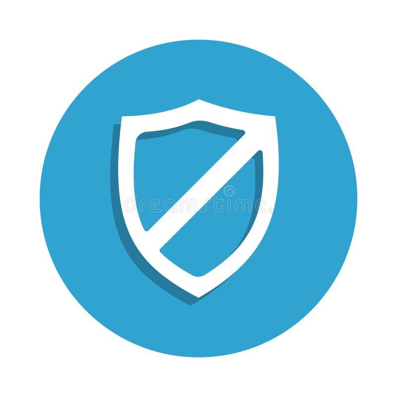 без значка экрана в стиле значка Одно значка собрания безопасностью кибер можно использовать для UI, UX бесплатная иллюстрация