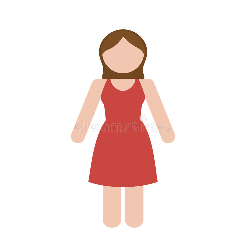 Download Безликое изображение значка женщины Иллюстрация вектора - иллюстрации насчитывающей сеть, девушка: 81800705
