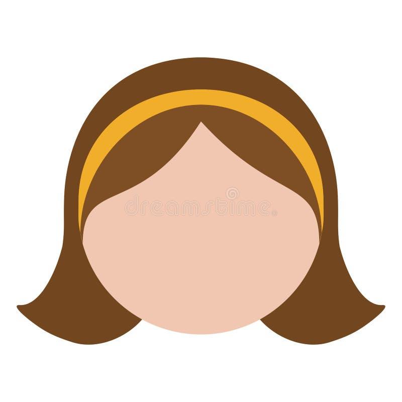 Download Безликое изображение значка женщины Иллюстрация вектора - иллюстрации насчитывающей урбанско, adulteration: 81800750