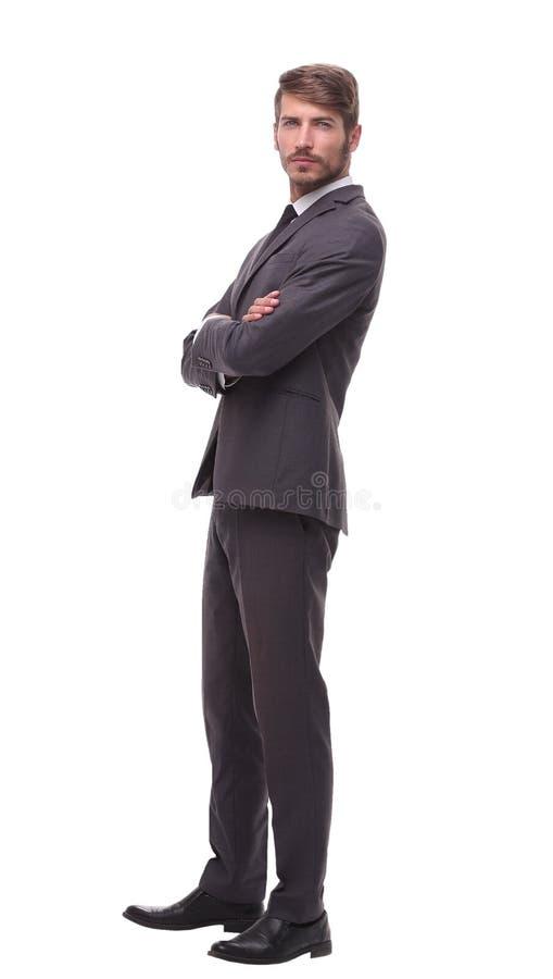 Без сокращений детеныши портрета бизнесмена уверенно стоковая фотография