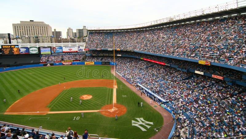 Бейсбольный матч янки NY и тигров Детройта 8-ого июля 2007 стоковая фотография rf