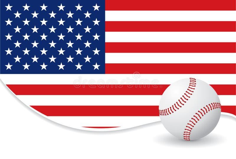 бейсбол предпосылки иллюстрация вектора