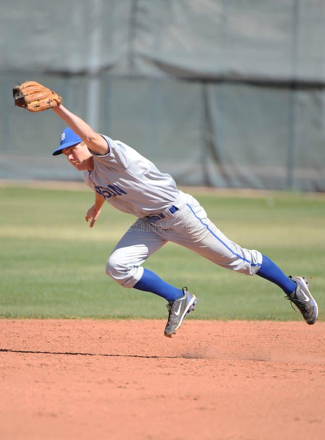 Бейсбол средней школы стоковая фотография