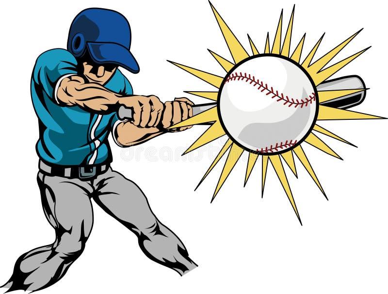 бейсбол ударяя игрока иллюстрации бесплатная иллюстрация