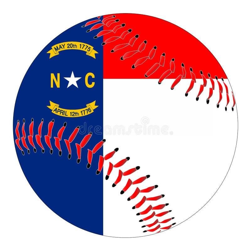 Бейсбол флага Северной Каролины бесплатная иллюстрация