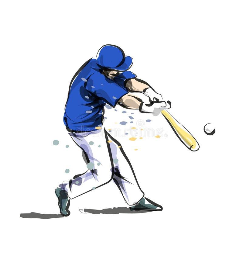Бейсбол эскиза цветного барьера вектора иллюстрация вектора