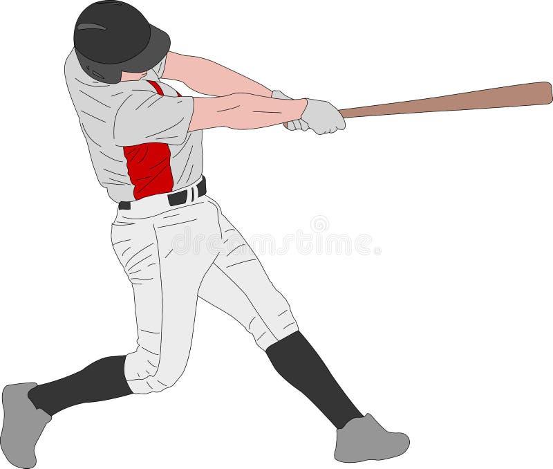 Бейсболист, детальная иллюстрация бесплатная иллюстрация