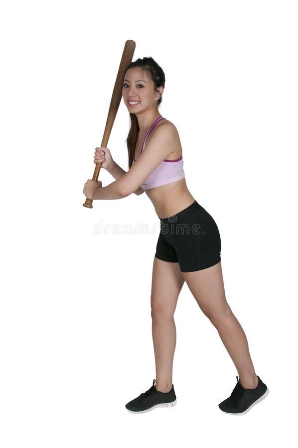 Бейсболист женщины стоковая фотография rf