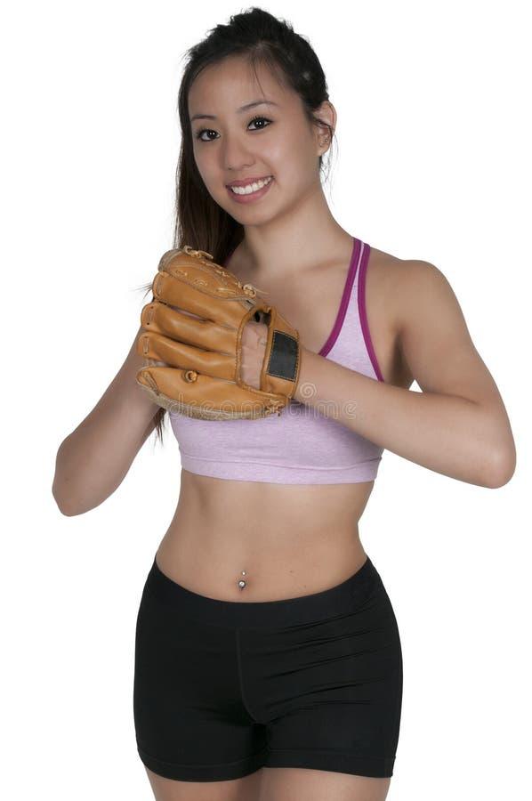 Бейсболист женщины стоковые фотографии rf