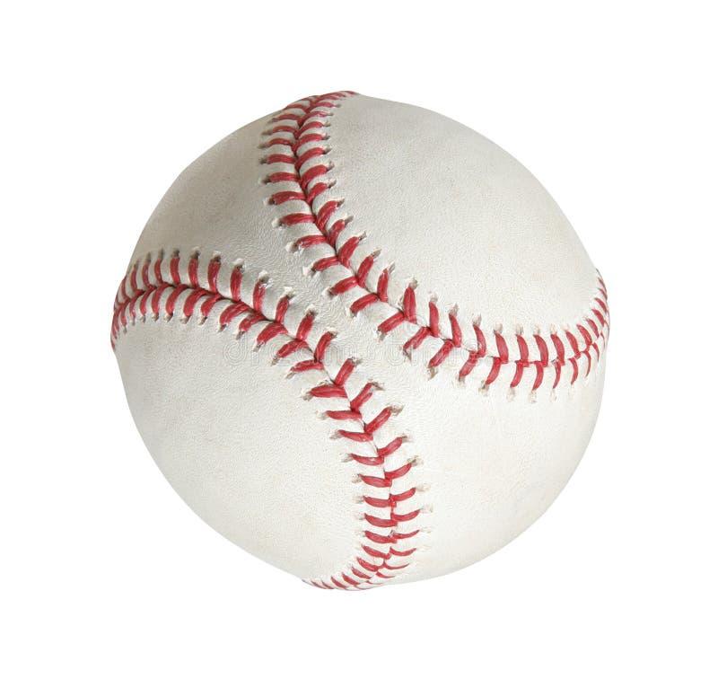 Бейсбол на белой предпосылке стоковое фото rf