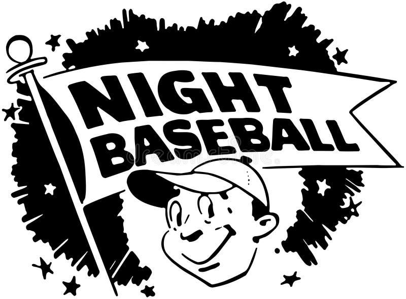 Бейсбол ночи иллюстрация вектора
