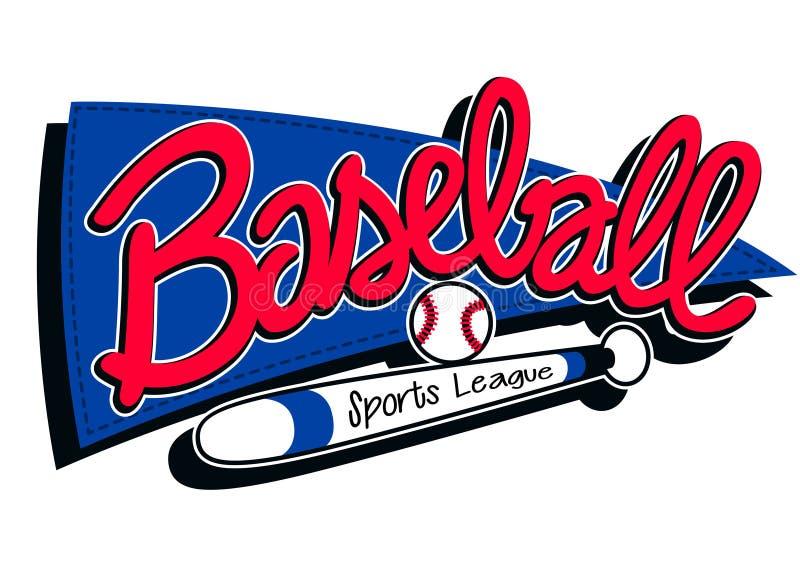Бейсбол резвится предпосылка знамени детей лиги иллюстрация вектора