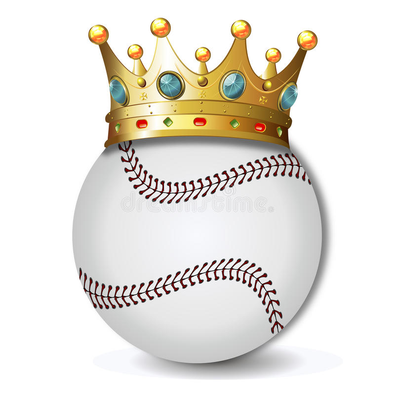 Бейсбол с кроной иллюстрация штока