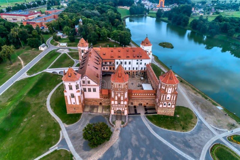 Беларусь, замок Mir Древняя крепость, наследие ЮНЕСКО стоковая фотография rf