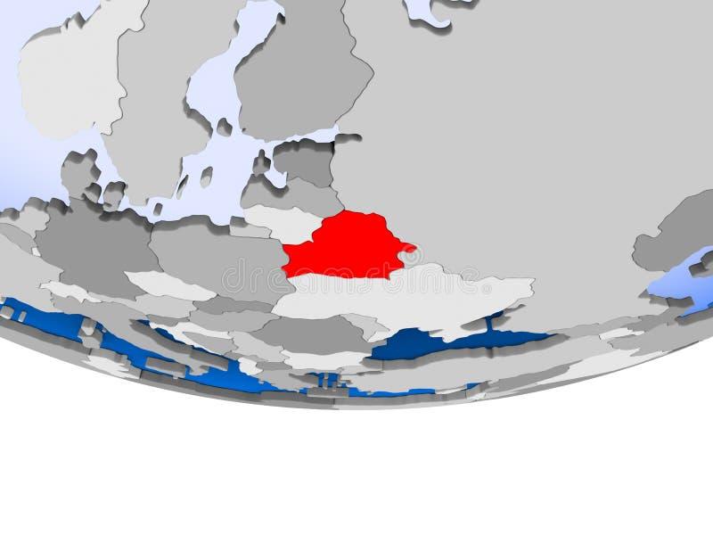 Беларусь на глобусе иллюстрация штока