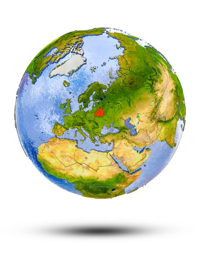 Беларусь на глобусе бесплатная иллюстрация