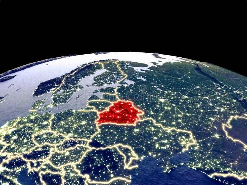Беларусь на земле от космоса бесплатная иллюстрация