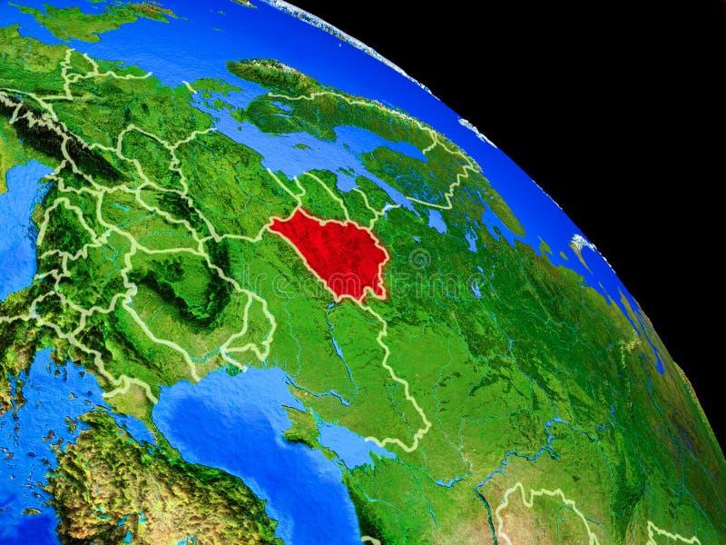 Беларусь на земле планеты бесплатная иллюстрация