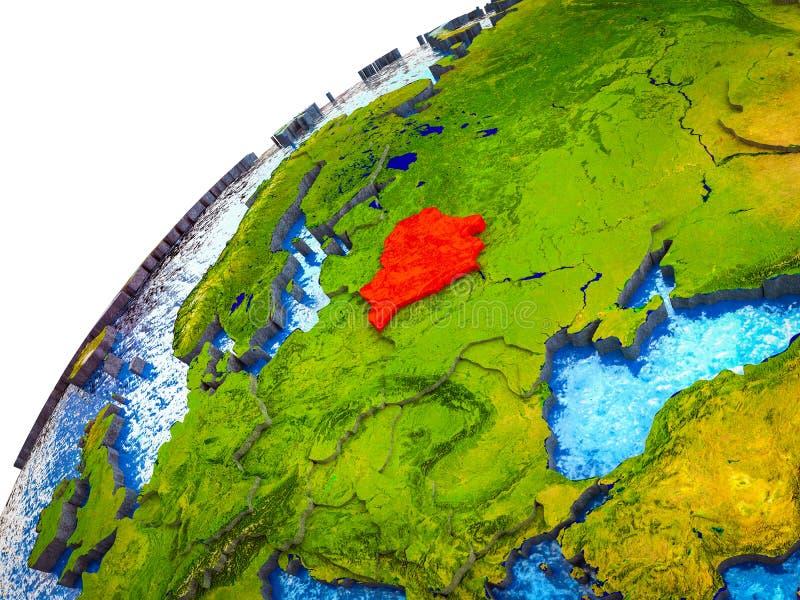 Беларусь на земле 3D иллюстрация вектора