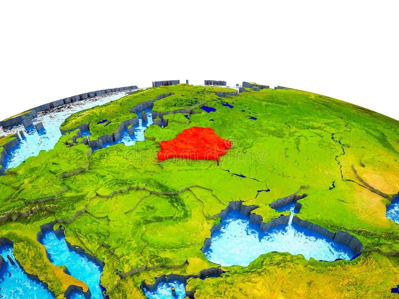 Беларусь на земле 3D бесплатная иллюстрация