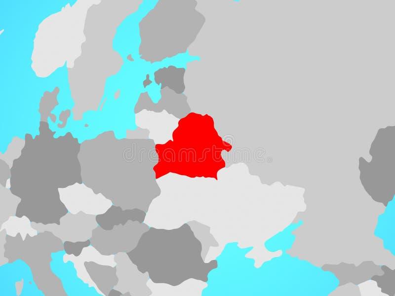 Беларусь на карте бесплатная иллюстрация