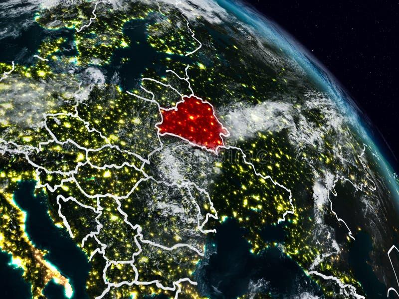Беларусь на ноче иллюстрация вектора