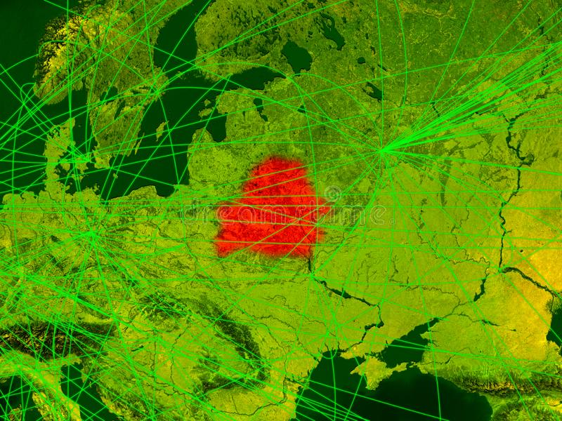 Беларусь на цифровой карте иллюстрация вектора