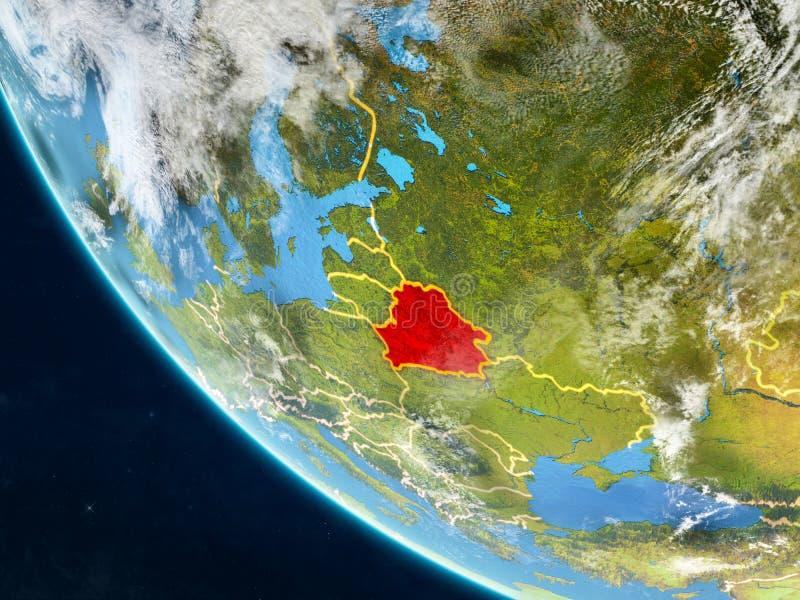 Беларусь от космоса на земле бесплатная иллюстрация