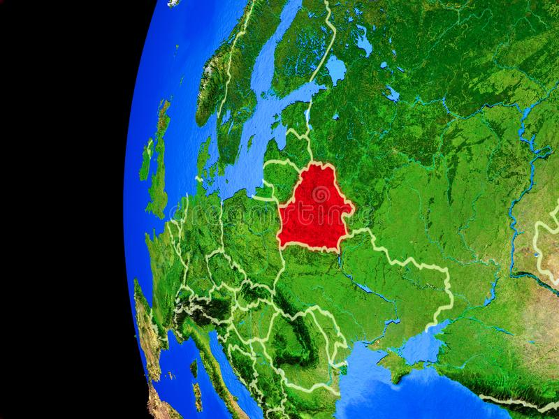 Беларусь от космоса иллюстрация штока