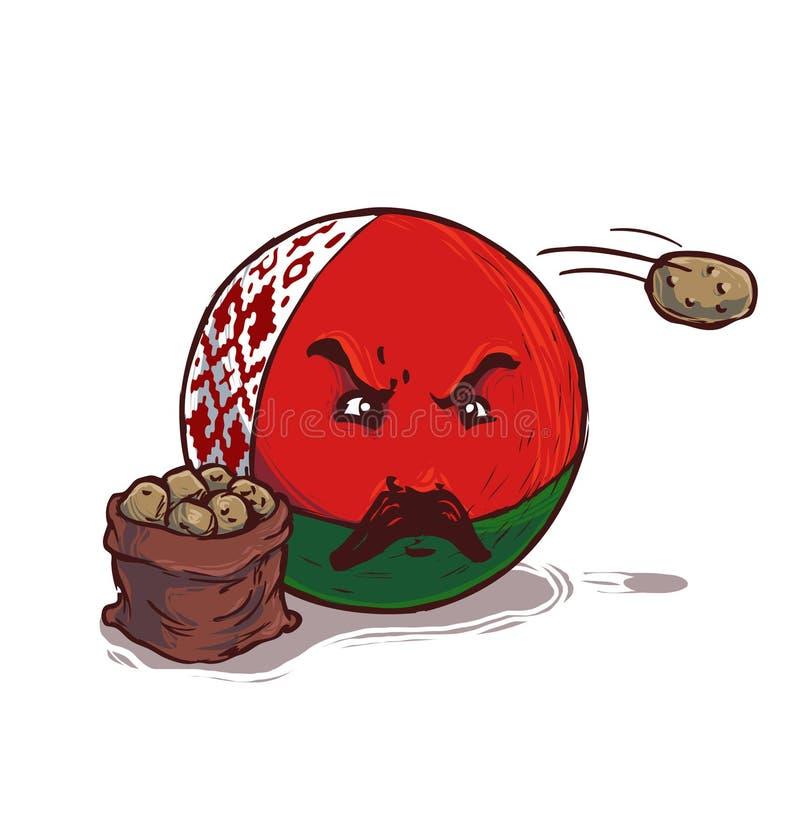Беларусь с картошкой иллюстрация вектора