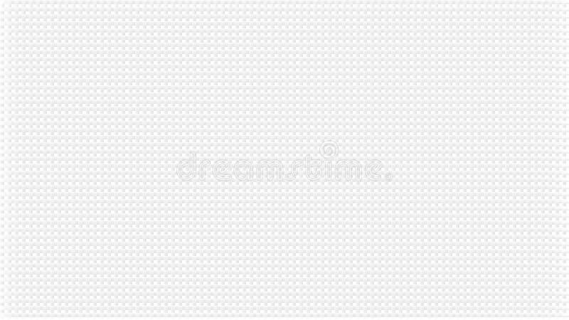Белая абстрактная предпосылка с текстурой waffers Бледный пересеченный серый цвет выравнивает влияние Картина широкого экрана, в  бесплатная иллюстрация