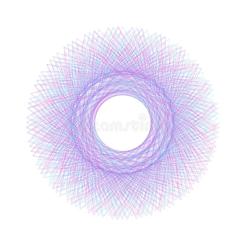Белая абстрактная цифровая линия цветочный узор искусства смогите быть использовано для сертификатов : Элемент вектора для дизайн бесплатная иллюстрация