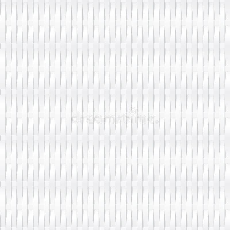 Белая безшовная предпосылка wickerwork иллюстрация штока