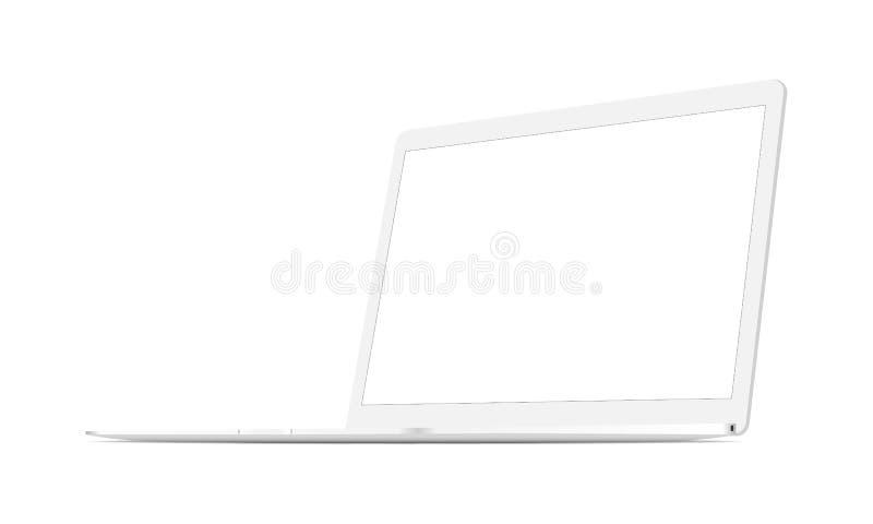 Белая вверх изолированная насмешка компьтер-книжки бесплатная иллюстрация
