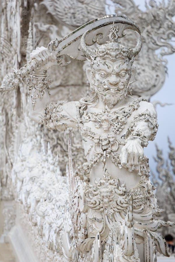 Белая гвардия в виске Wat Rong Khun около Chiang Rai стоковые изображения rf