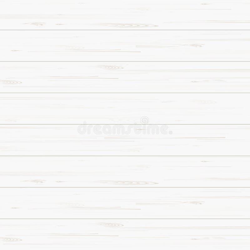 Белая деревянная текстура для предпосылки вектор иллюстрация вектора